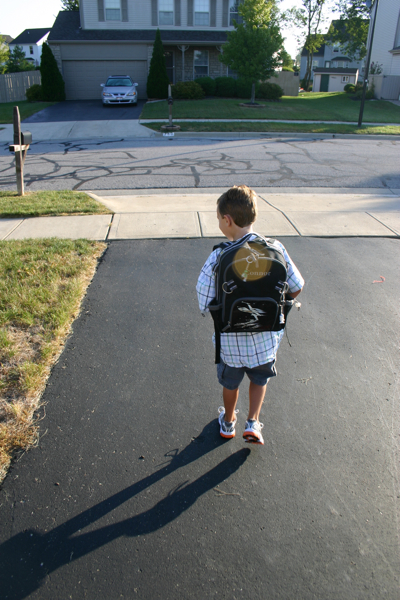 100826 Connor's First Day of First Grade - 11